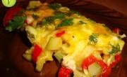 Омлет с помидорами и кабачками без яиц