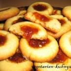Быстрое печенье с вареньем