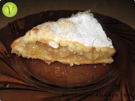 Веганский пирог с яблоками