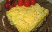 Рисовая запеканка на сковороде