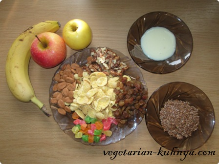 Ингредиенты для фруктового салата мегапольза