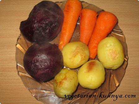 Овощи после остывания почистить