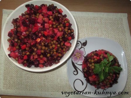 Вкусный Винегрет из запеченных овощей