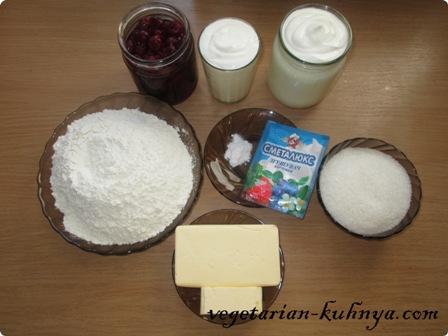 Ингредиенты для вегетарианского торта