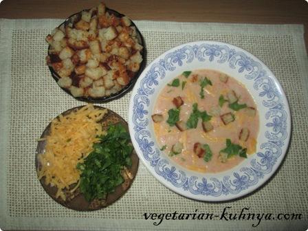Готовый суп-пюре из цветной капусты