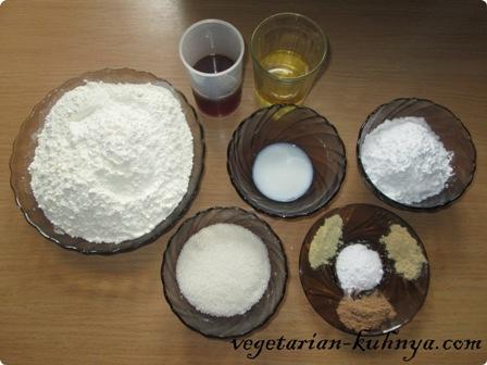 Ингредиенты для имбирного печенья без яиц