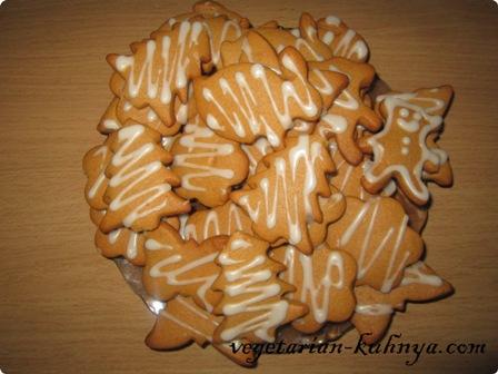 Готовое имбирное печенье без яиц