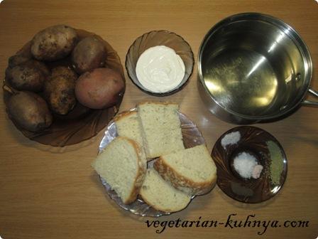 Ингредиенты для картофельного супа-пюре
