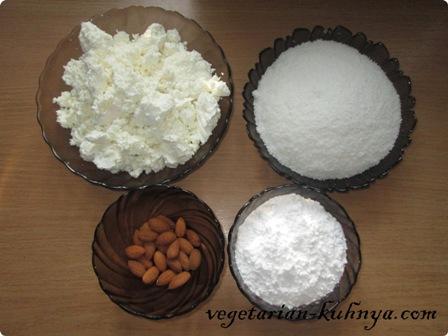 Ингредиенты для творожного Рафаэлло
