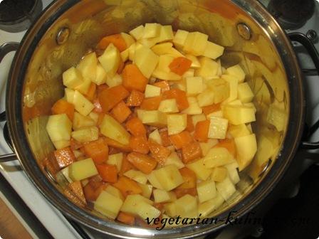К тыкве добавить картофель