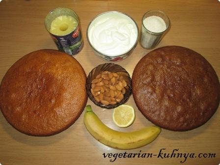 Ингредиенты для торта Панчо без яиц