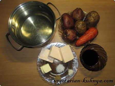 Ингредиенты для сырного супа-пюре