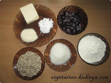 Ингредиенты для фиолетового печенья