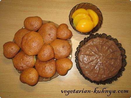 Ингредиенты для пирожных с шоколадным кремом