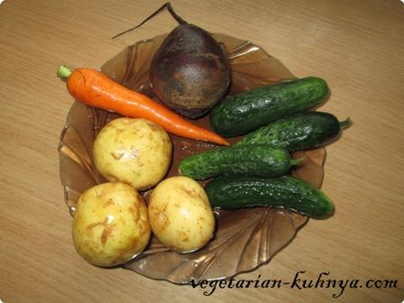 Ингредиенты для салата с жареным картофелем