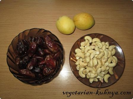 Ингредиенты для финиково-ореховых шариков