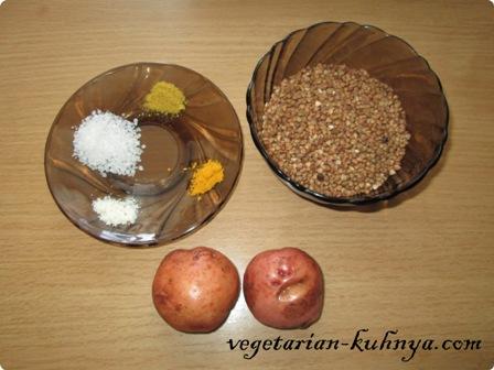 Ингредиенты для котлет из гречки