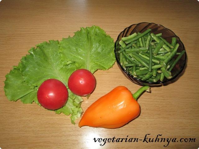 Ингредиенты для салата со спаржевой фасолью