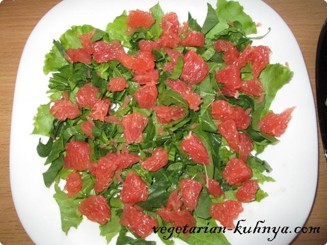 Зелень и грейпфрут
