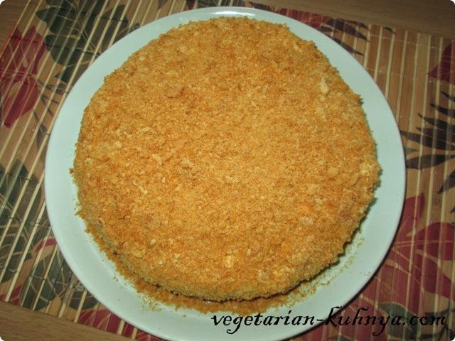 Вегетарианский Медовик без яиц