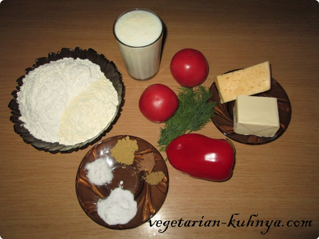 Ингредиенты для овощного пирога