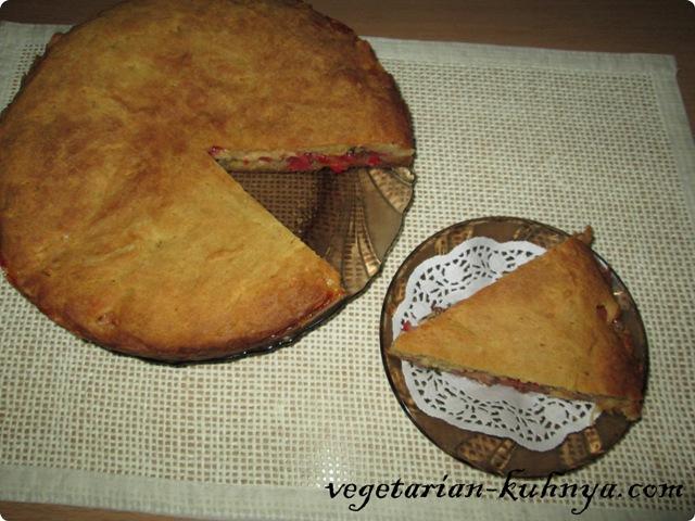 Овощной пирог без яиц