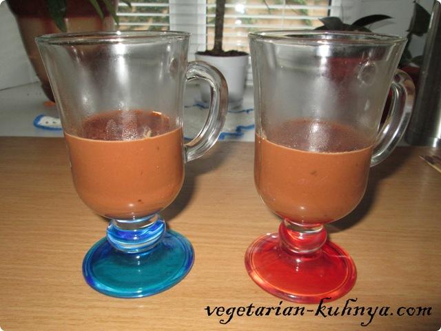 Первый слой - горячий шоколад