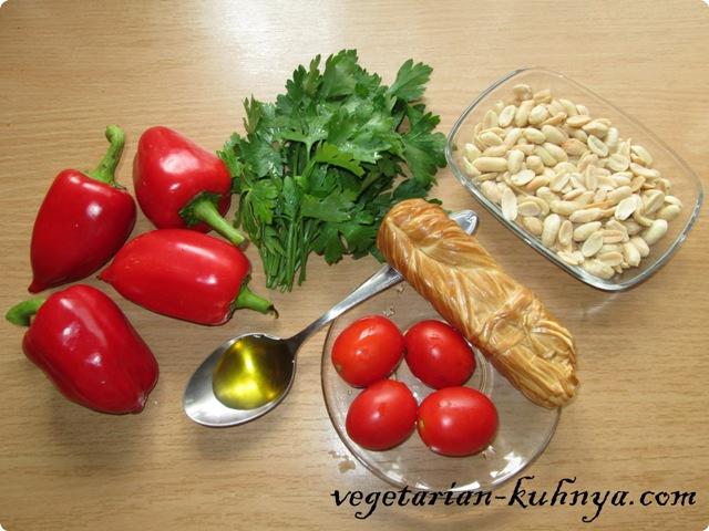 Ингредиенты для перца, запеченного с сыром