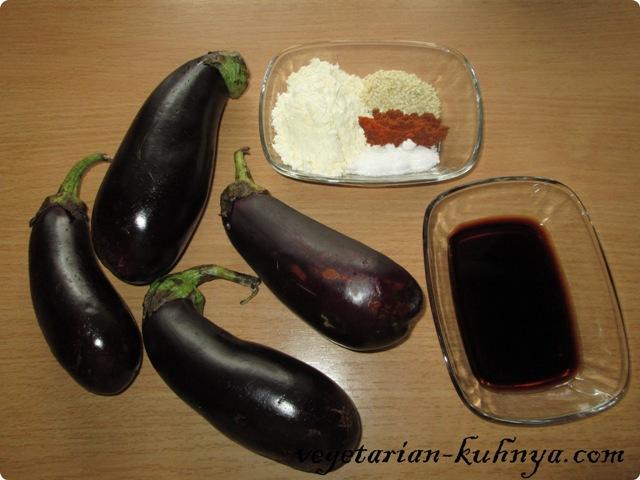 Ингредиенты для палочек из баклажана