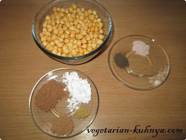 Ингредиенты для орешков из нута