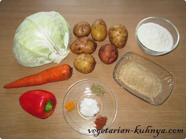 Ингредиенты для котлет из тушеной капусты