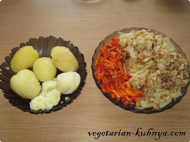 Приготовить все для вегетарианских котлет