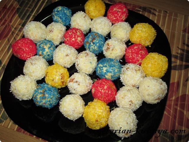 Молочные шарики с орехами