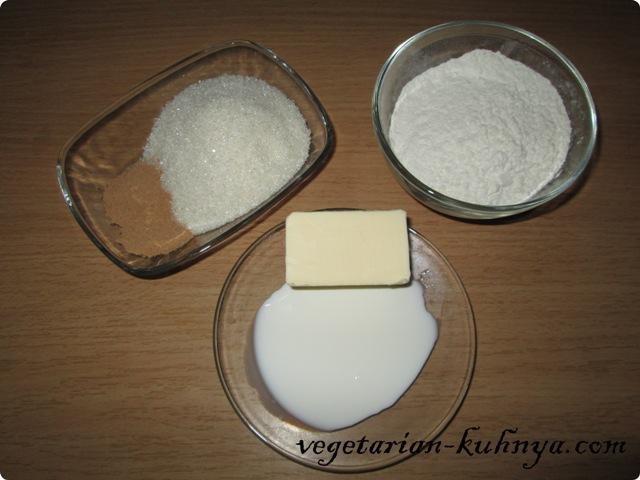 Ингредиенты для подушечек с корицей