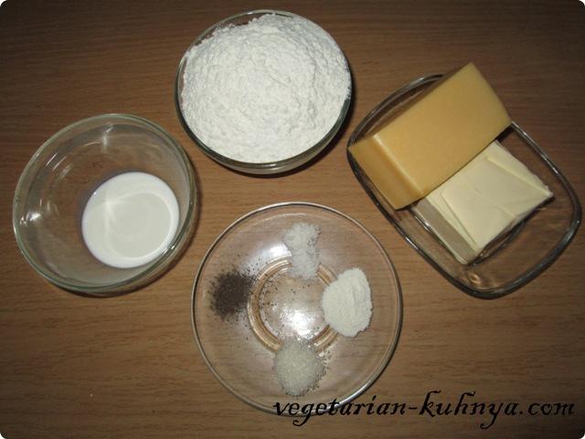 Ингредиенты для сырных крекеров
