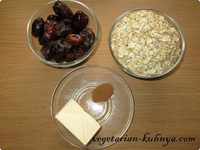 Ингредиенты для финикового печенья