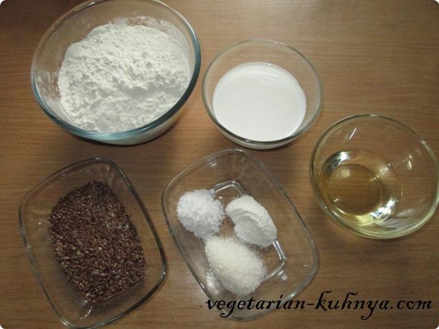 Ингредиенты для крекеров с семенами льна