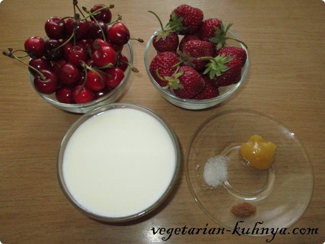 Ингредиенты для смузи с черешней