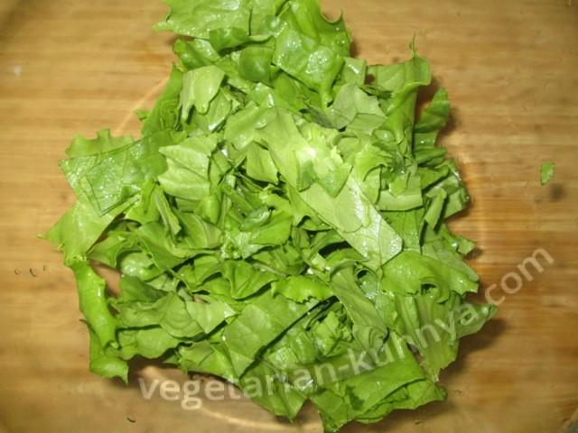 Порезать салат