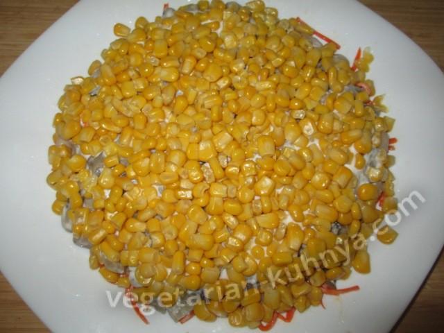 Последний слой - кукуруза