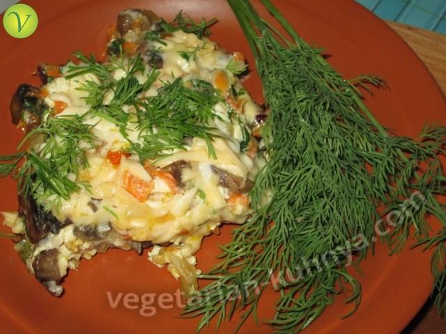 Омлет с тофу и овощами