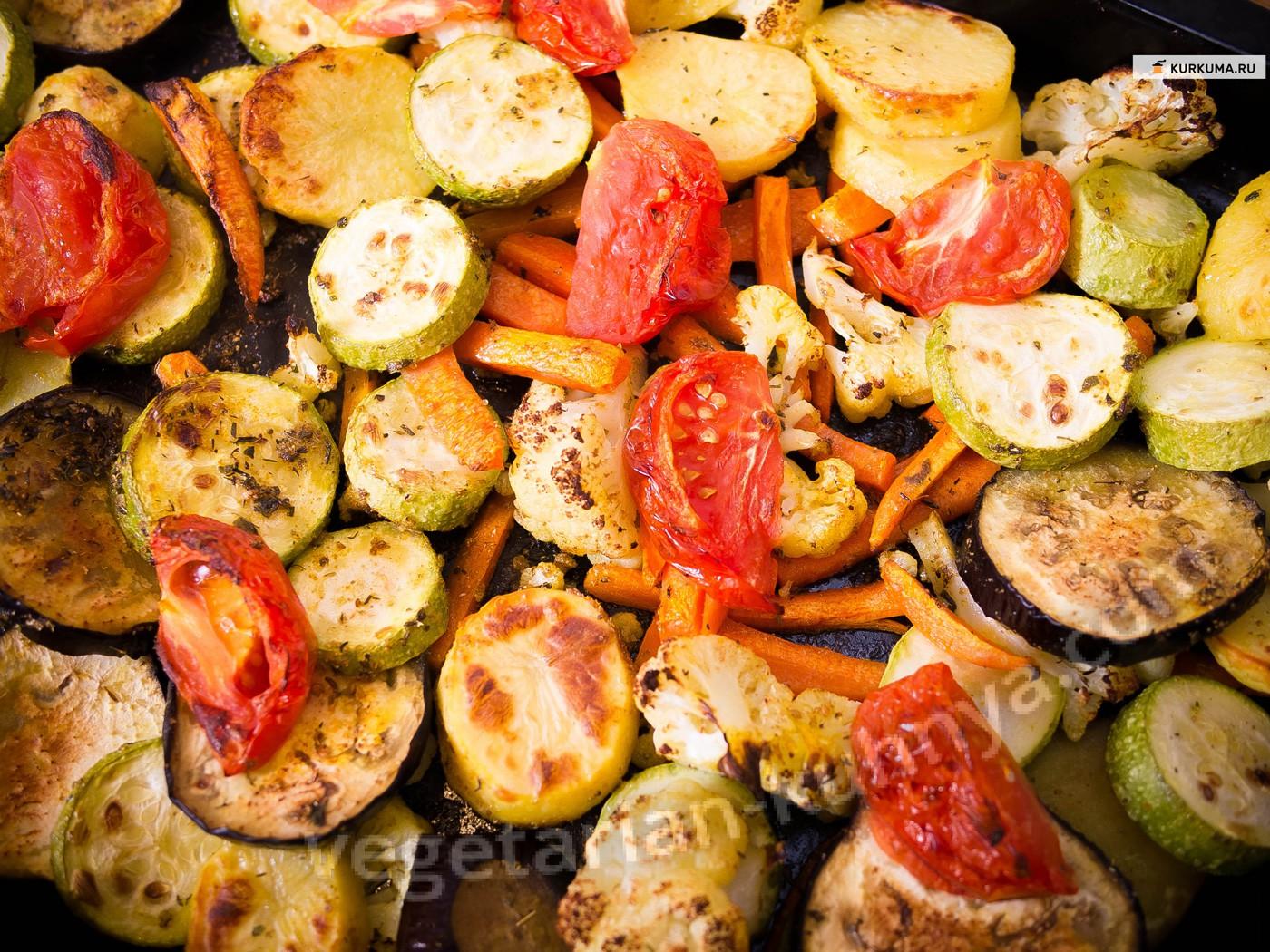 Запеченные овощи в духовке для похудения рецепт