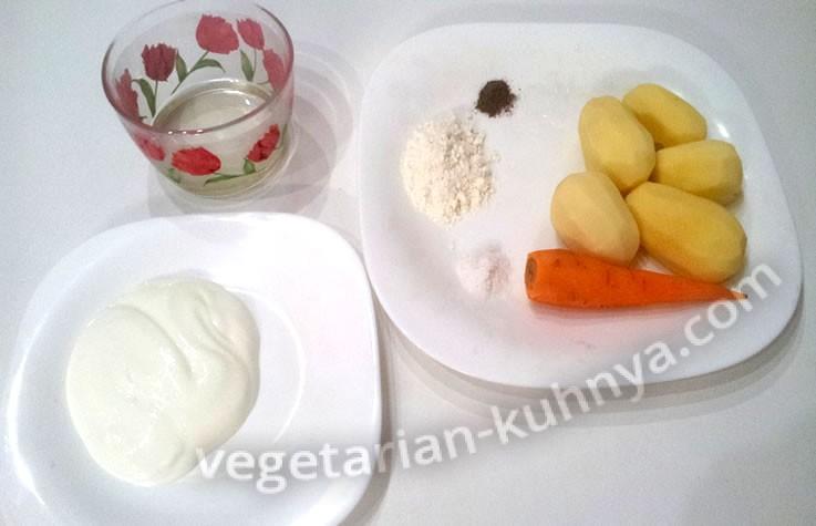 Ингредиенты для приготовления дерунов без яиц